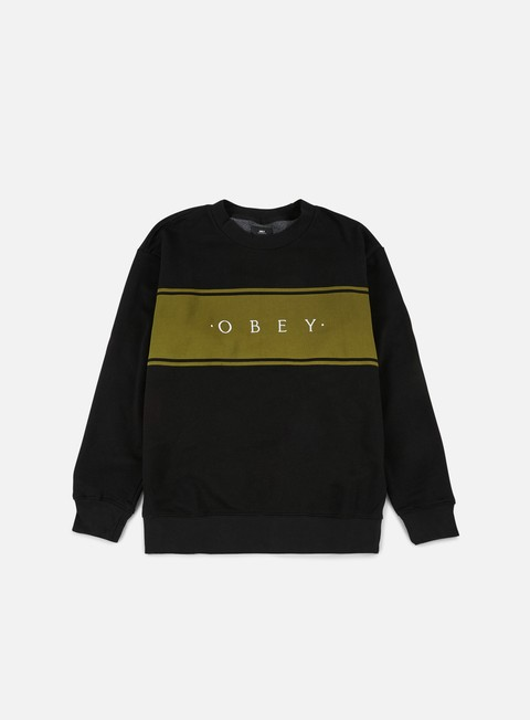 felpe obey roebling crewneck black
