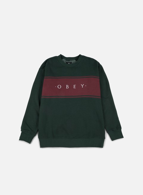 felpe obey roebling crewneck forest