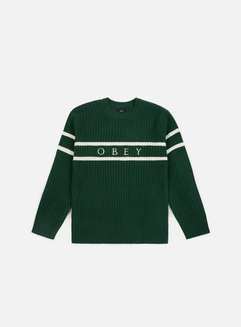 felpe obey roebling sweater dark teal multi
