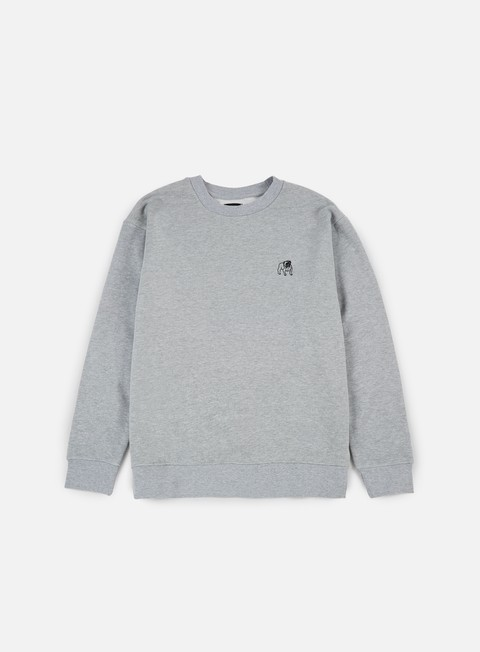 felpe obey special reserve crewneck heather grey