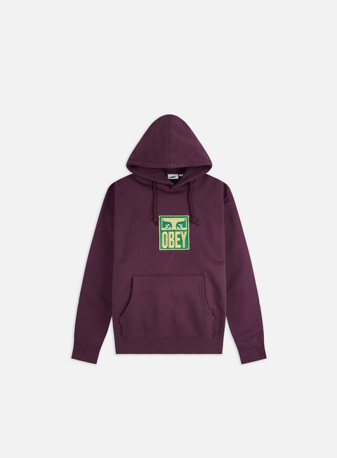 Hooded Sweatshirts Obey Stack Fleece Hoodie