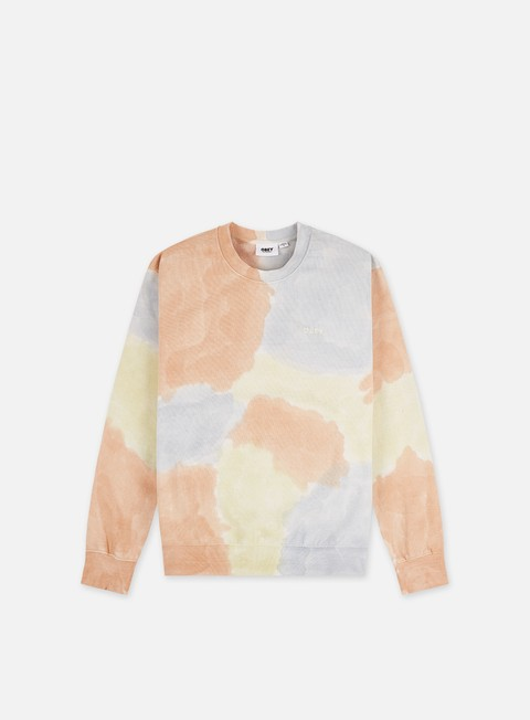 Obey Sustainable Tie Dye Specialty Fleece Crewneck