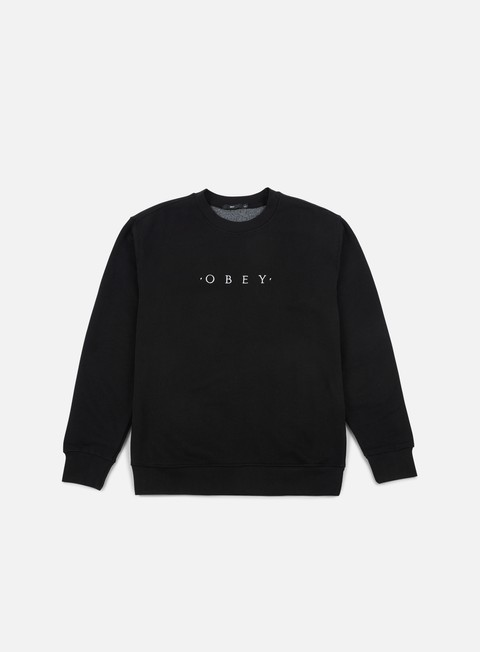 felpe obey take all crewneck black