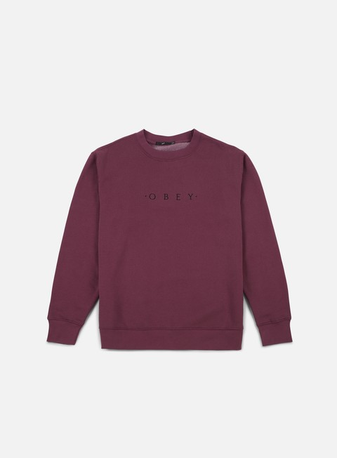 felpe obey take all crewneck eggplant