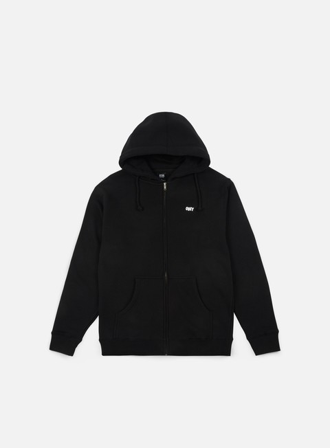 felpe obey the creeper graphic zip hoodie black