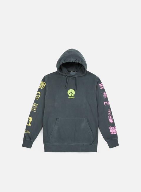 felpe obey the next wave hoodie dusty black