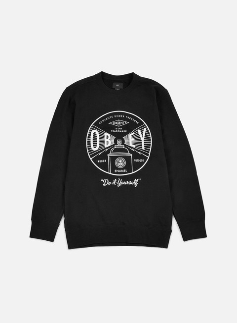 felpe obey under pressure crewneck black
