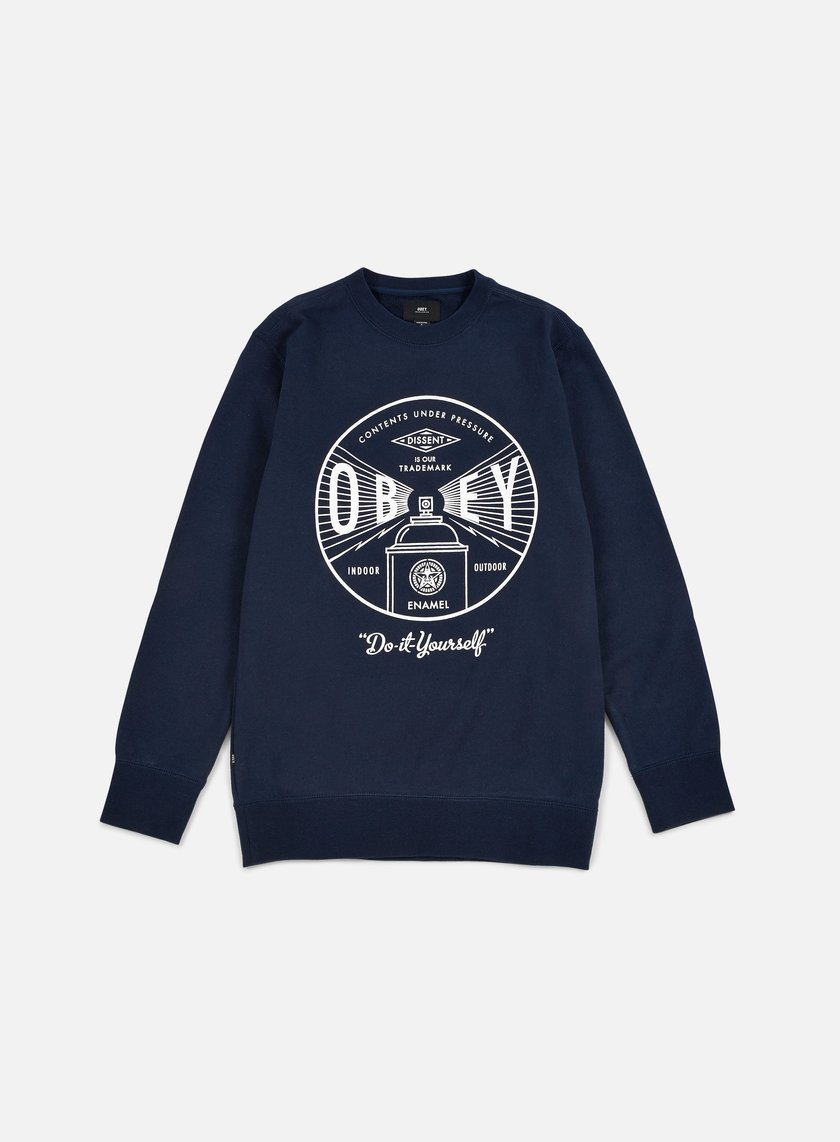 Obey - Under Pressure Crewneck, Navy