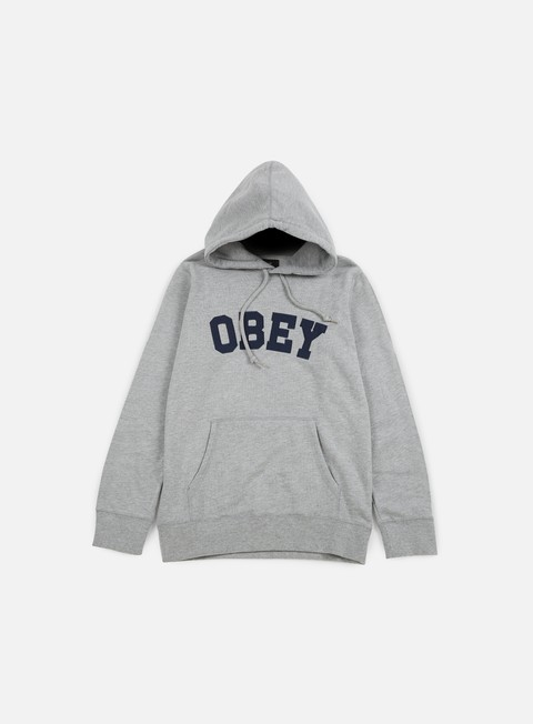 felpe obey watson hoodie heather grey