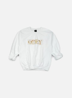 Obey - WMNS Color Theory Logo Crewneck, White