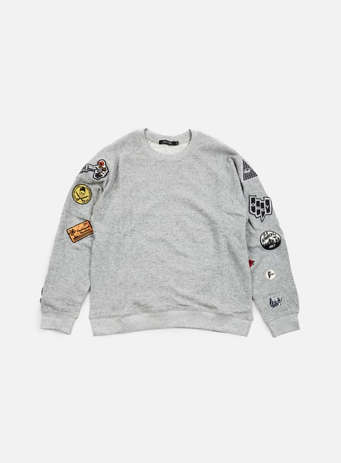 felpe obey wmns moonrise crewneck heather grey