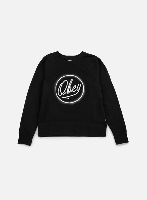 Sale Outlet Crewneck Sweatshirts Obey WMNS Neon L'Espirit De La Liberte Crewneck