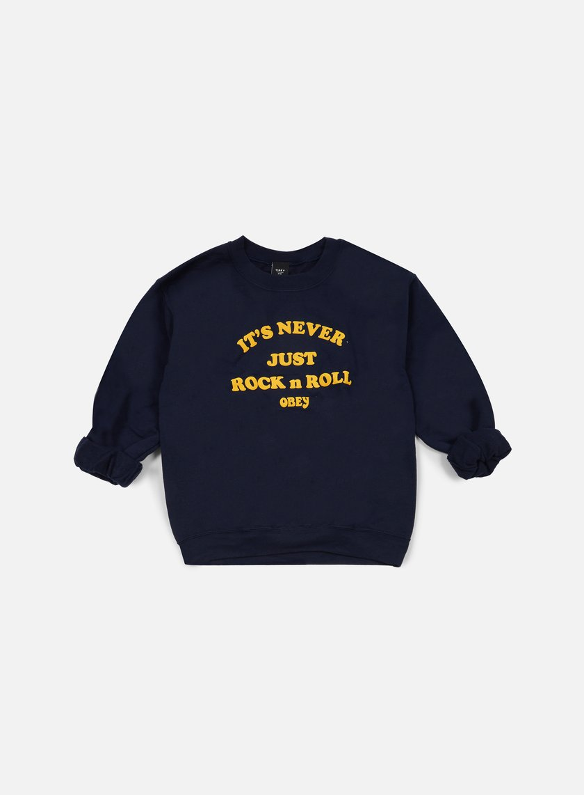 Obey WMNS Never Just Rock N Roll Crewneck