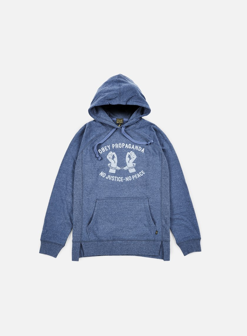 Obey - WMNS No Justice No Peace Hoodie, Heather Navy