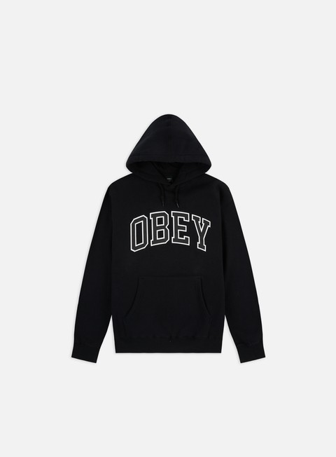 Outlet e Saldi Felpe con Cappuccio Obey WMNS Obey Academic Box Fit Hoodie