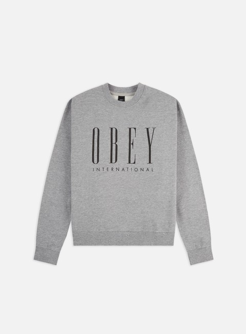 Felpe Girocollo Obey WMNS Obey International New Box Fit Crewneck