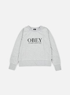 Obey - WMNS Obey Vanity Crewneck, Heather Grey 1