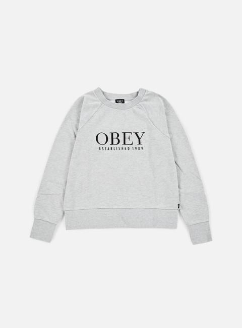 Outlet e Saldi Felpe Girocollo Obey WMNS Obey Vanity Crewneck