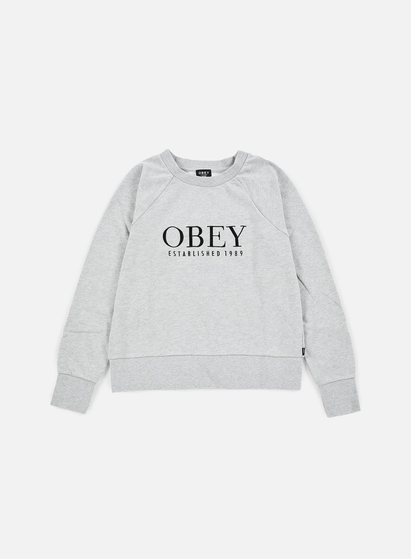 Obey - WMNS Obey Vanity Crewneck, Heather Grey