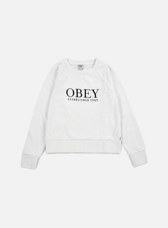Obey - WMNS Obey Vanity Crewneck, White 1