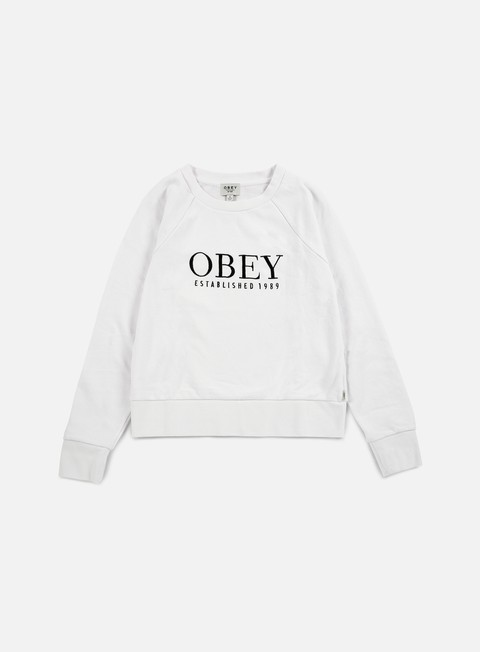 felpe obey wmns obey vanity crewneck white