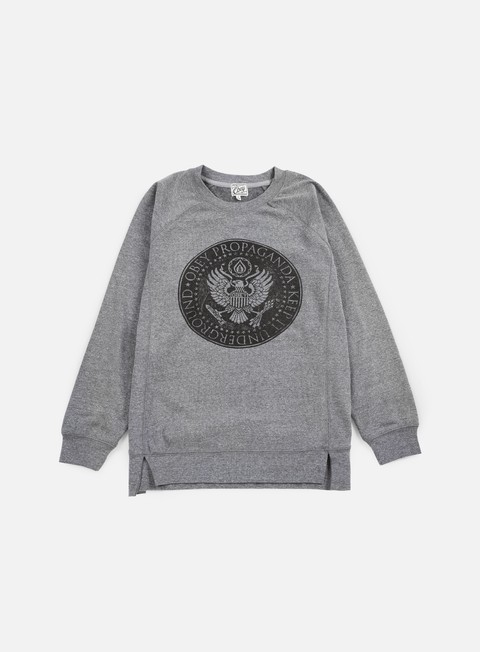 felpe obey wmns oil eagle crewneck heather grey