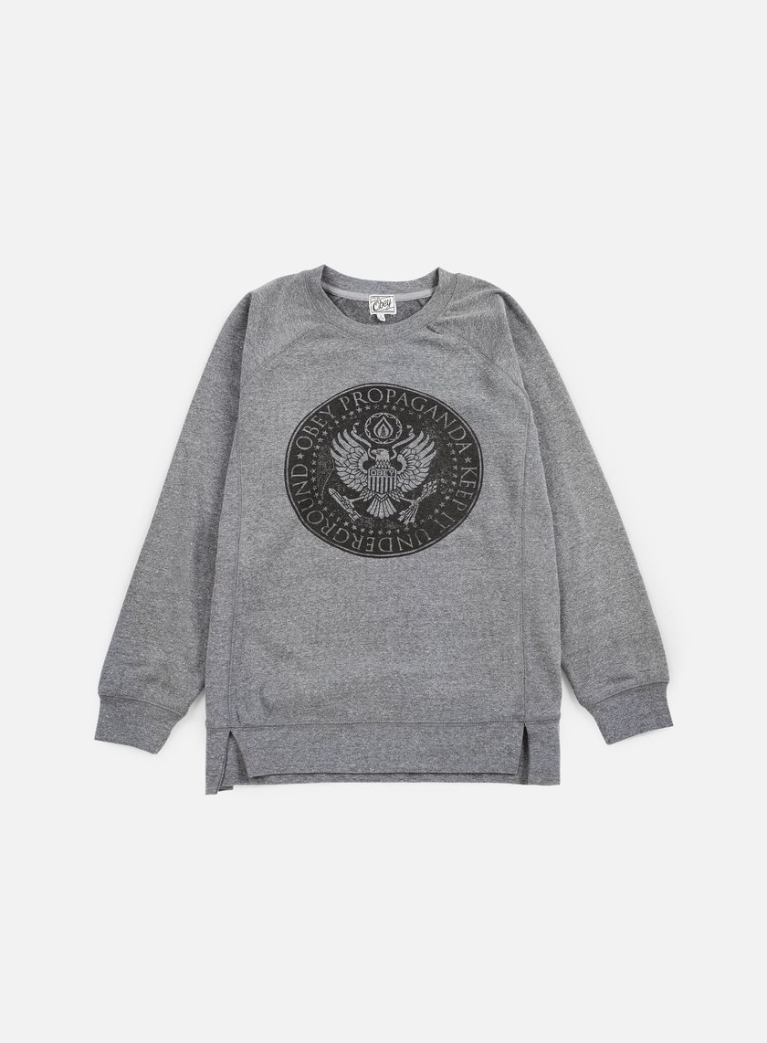 Obey - WMNS Oil Eagle Crewneck, Heather Grey