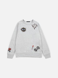 Obey - WMNS Patched Comfy Creatures Crewneck, Heather Grey 1