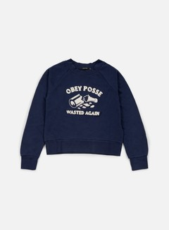 Obey - WMNS Posse Specialty Crewneck, Navy