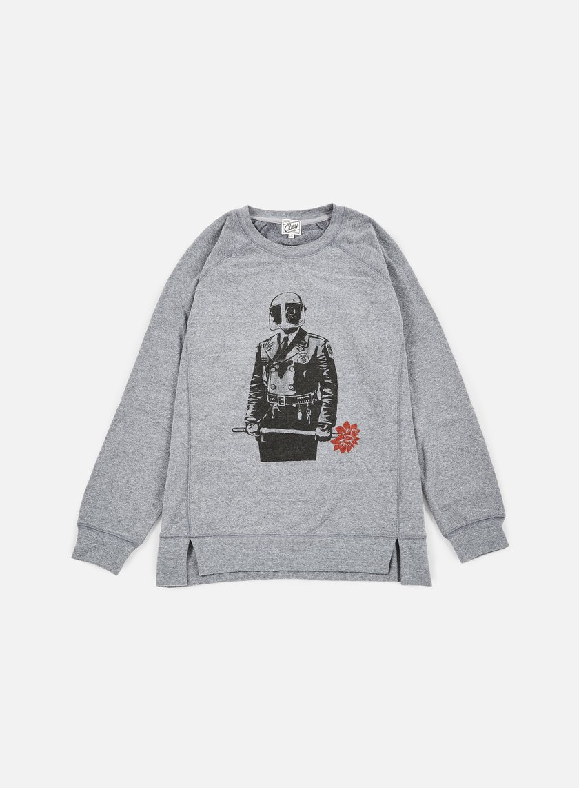 Obey - WMNS Sadistic Florist Crewneck, Heather Grey