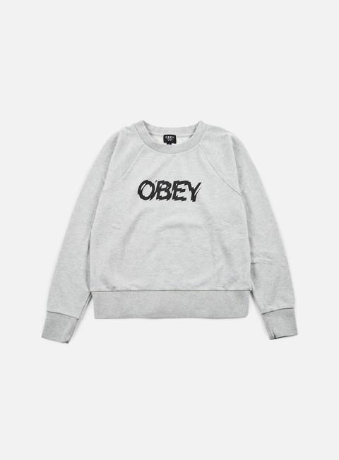 Sale Outlet Crewneck Sweatshirts Obey WMNS Static Age Crewneck