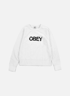 Obey - WMNS Static Age Crewneck, White