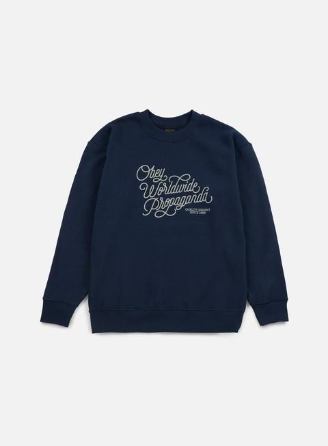 Sale Outlet Crewneck Sweatshirts Obey WMNS Worldwide Dissent Crewneck