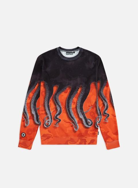 Felpe Girocollo Octopus Octopus Camo Crewneck