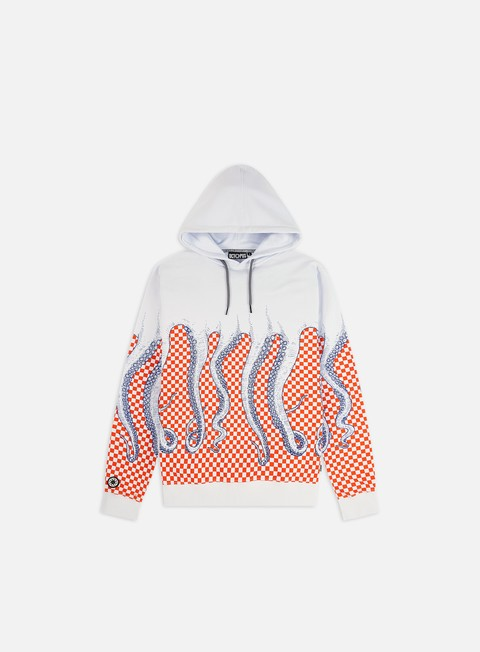 Hooded Sweatshirts Octopus Octopus Checkered Hoodie