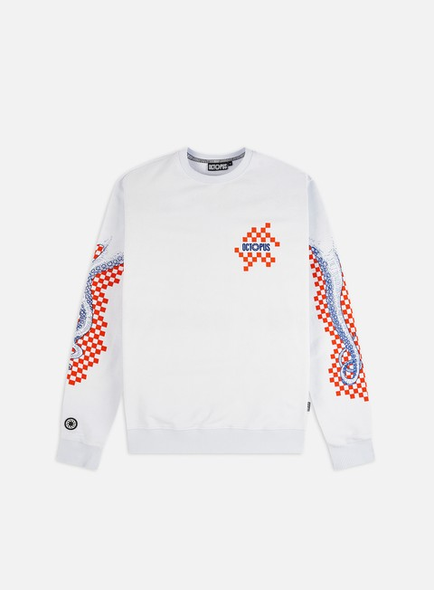 Crewneck Sweatshirts Octopus Octopus Checkered Logo Crewneck