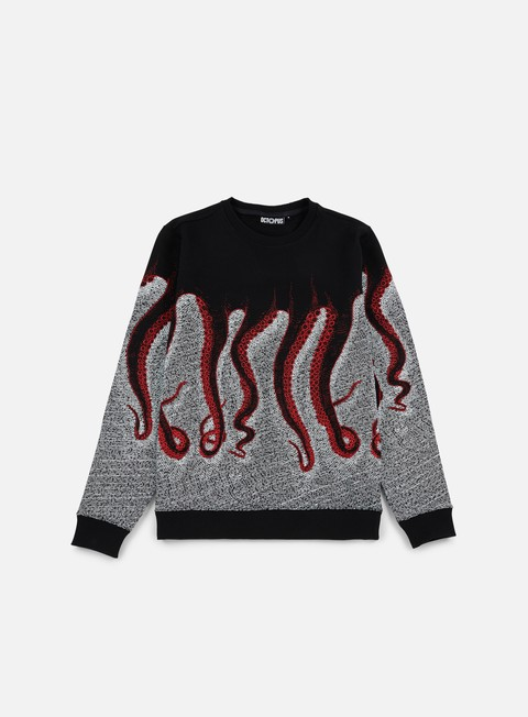 felpe octopus octopus cnc crewneck black red