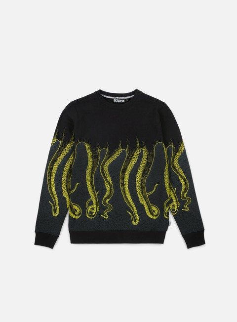 felpe octopus octopus cnc crewneck black yellow grey