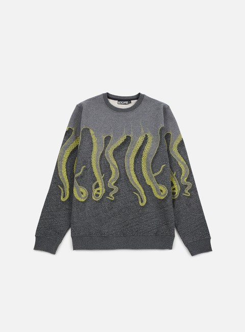 felpe octopus octopus cnc crewneck dark grey yellow black