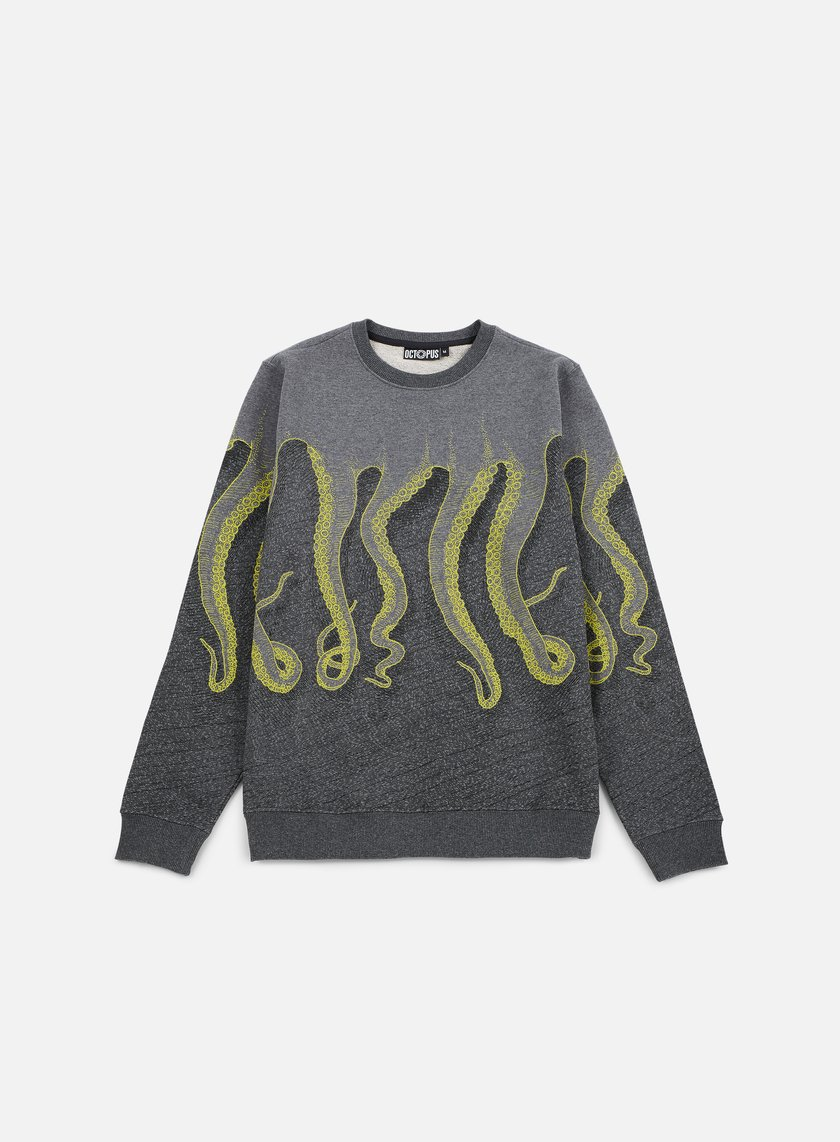 Octopus - Octopus CNC Crewneck, Dark Grey/Yellow Black