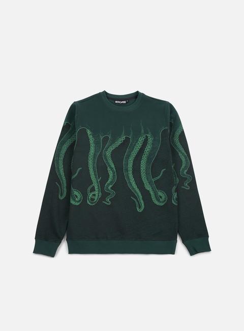 felpe octopus octopus cnc crewneck green green black