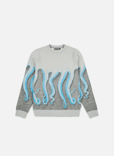 felpe octopus octopus cnc crewneck light grey cyan black
