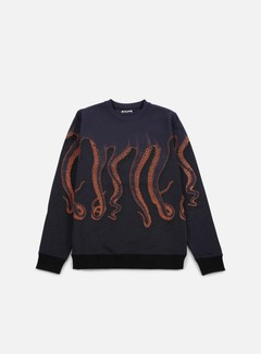 Octopus - Octopus CNC Crewneck, Navy/Orange Blue