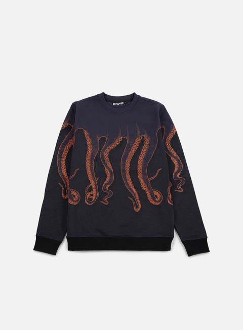 felpe octopus octopus cnc crewneck navy orange blue