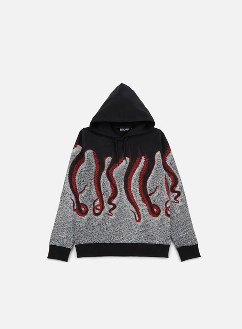 felpe octopus octopus cnc hoodie black red