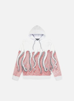 Octopus - Octopus CNC Hoodie, Black/Red/White