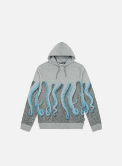 Octopus - Octopus CNC Hoodie, Cyan/Black/Light Grey