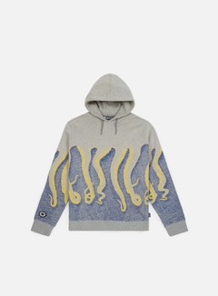 Octopus - Octopus CNC Hoodie, Light Grey/Yellow/Blue