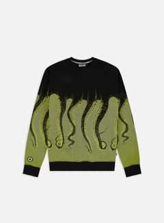 Octopus - Octopus Crewneck, Acid/Black