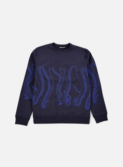 Octopus - Octopus Crewneck, Navy/Blue Out